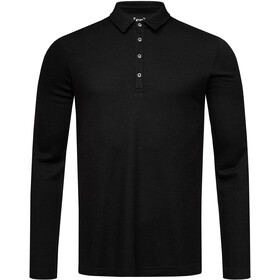 super.natural Piquet LS Polo Men, jet black
